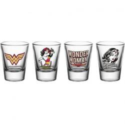 Figurine Wonder Woman Set 4 verres à shot 60´s Pop GB eye Boutique Geneve Suisse