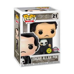 Pop Phosphorescent Edgar Allan Poe avec Crâne Edition Limitée