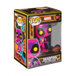 Figurine Pop Marvel Blacklight Deadpool Edition Limitée Funko Boutique Geneve Suisse