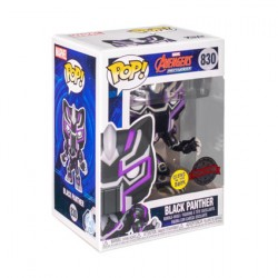 Figurine Pop Phosphorescent Avengers Mech Strike Black Panther Edition Limitée Funko Boutique Geneve Suisse