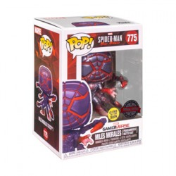 Figur Pop Glow in the Dark Marvel Spider-Man Miles Morales in Programmable Matter Suit Limited Edition Funko Geneva Store Swi...