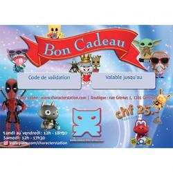 Figurine Bon Cadeau 25 CHF CharacterStation Boutique Geneve Suisse