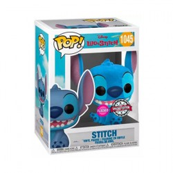Figur Pop Flocked Lilo and Stitch Smiling Seated Stitch Limited Edition Funko Geneva Store Switzerland