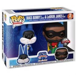 Figurine BOITE ENDOMMAGÉE Pop Space Jam 2 A New Legacy Bugs Bunny as Batman & LeBron James as Robin 2-Pack Edition Limitée Fu...