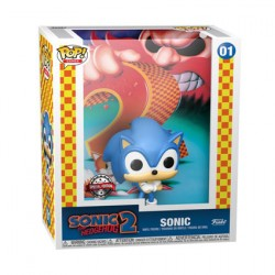 Figur Pop Game Cover Sonic the Hedgehog Sonic 2 with Hard Acrylic Protector Limited Edition Funko Geneva Store Switzerland