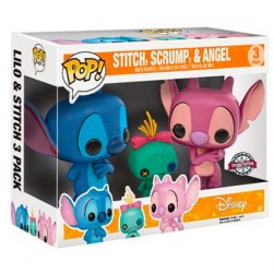 Figuren Pop Disney Lilo und Stitch - Stitch, Scrump und Angel 3-Pack Limitierte Auflage Funko Genf Shop Schweiz