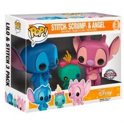 Figurine Pop Disney Lilo et Stitch - Stitch, Scrump et Angel 3-Pack Édition Limitée Funko Boutique Geneve Suisse