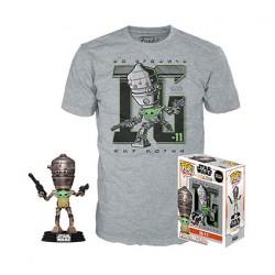 Figurine Pop et T-shirt Star Wars Le Mandalorian IG-11 avec l'Enfant (Grogu) Edition Limitée Funko Boutique Geneve Suisse
