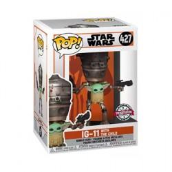 Figurine Pop Star Wars Le Mandalorian IG-11 avec l'Enfant (Grogu) Edition Limitée Funko Boutique Geneve Suisse