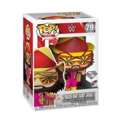 Figurine BOITE ENDOMMAGÉE Pop Diamond Glitter WWE NWSS Macho Man Randy Savage Edition Limitée Funko Boutique Geneve Suisse