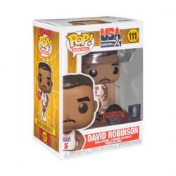 Figurine Pop NBA Legends David Robinson 92 Team USA White Edition Limitée Funko Boutique Geneve Suisse