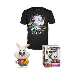 Figur Pop Flocked and T-shirt Alice in Wonderland White Rabbit Limited Edition Funko Geneva Store Switzerland