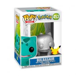 Figur Pop Metallic Pokemon Silver Bulbasaur 25th Anniversary Limited Edition Funko Geneva Store Switzerland