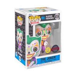 Figur Pop Glow in the Dark Batman Joker Dia De Los DC Limited Edition Funko Geneva Store Switzerland