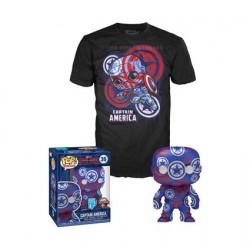 Figurine Pop et T-shirt Artist Series Captain America Civil War Edition Limitée Funko Boutique Geneve Suisse