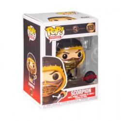 Figuren Pop Metallisch Mortal Kombat 2021 Scorpion Crouch Limitierte Auflage Funko Genf Shop Schweiz