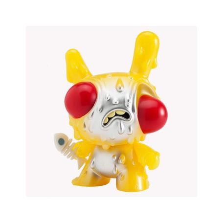 Figurine Dunny Meltdown Jaune Phosphorescent par Chris Ryniak Kidrobot Boutique Geneve Suisse