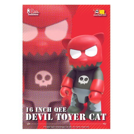 Figur Qee Devil Toyer Cat 40 cm (Without box) by Raymond Choy Toy2R Geneva Store Switzerland