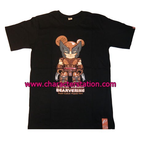 Figur T-shirt Bearverine Brown Geneva Store Switzerland