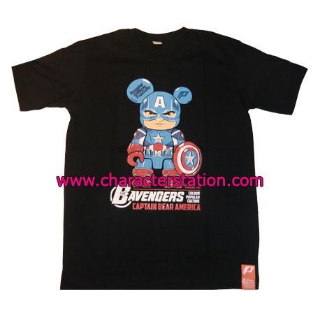 Figur T-shirt Captain Bear America Geneva Store Switzerland