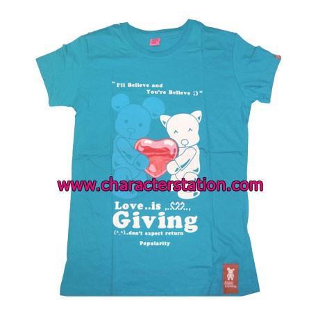 Figuren T-shirt Love is Giving Bear Genf Shop Schweiz
