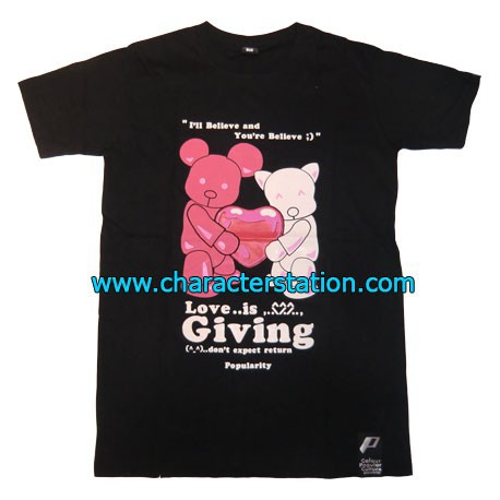 Figurine T-shirt Love is Giving T-Shirts Geneve