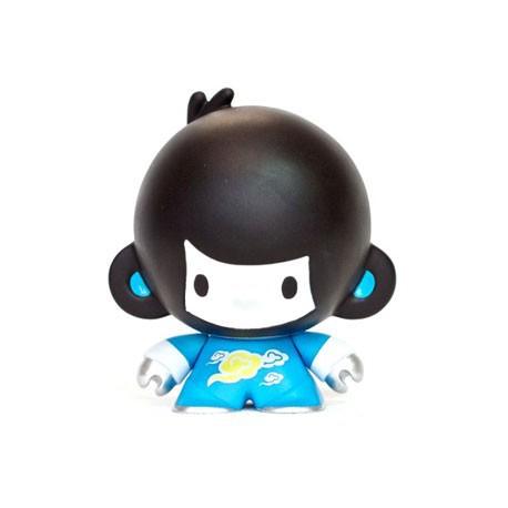 Figurine Baby Di Di Bleu par Veggiesomething Crazy Label Boîtes ouvertes Geneve