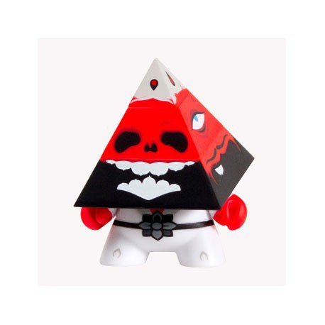 Figur Pyramidun Dunny Red by Andrew Bell Kidrobot Dunny Geneva