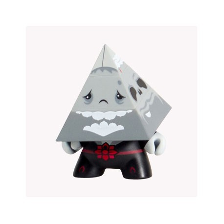 Figur Pyramidun Dunny Grey by Andrew Bell Kidrobot Dunny Geneva