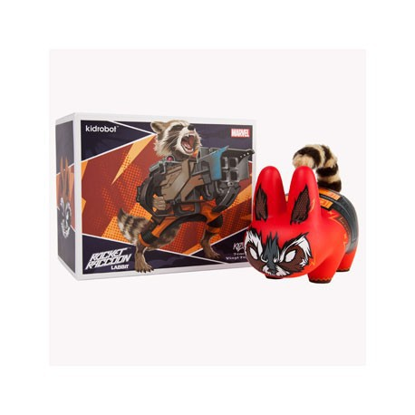 Figur Marvel Labbit Guardians Of The Galaxy : Rocket Racoon Kidrobot Geneva Store Switzerland
