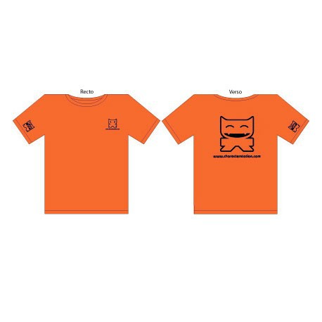 Figurine T-Shirt CS Femme : Orange CharacterStation Boutique Geneve Suisse