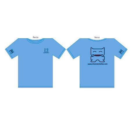 Figur T-Shirt CS Femme : Bleu Turquoise (S/36) CharacterStation Geneva Store Switzerland