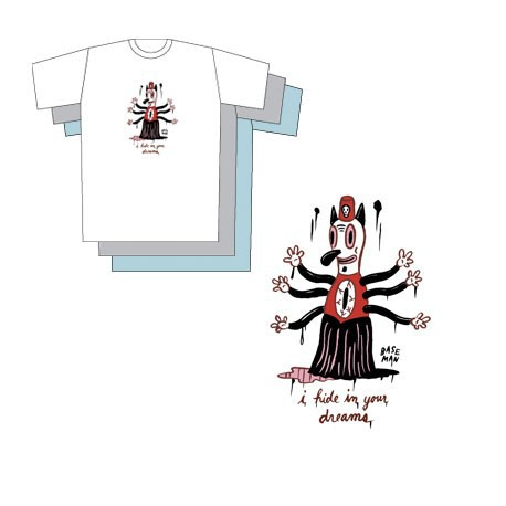 Figurine T-Shirt Gris Gary Baseman : I Hide In Your Dreams Critter Box Boutique Geneve Suisse