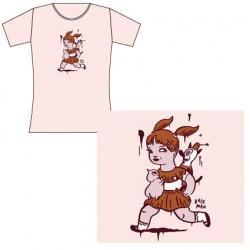 T-Shirt Femme Gary Baseman : Running Girll (L)