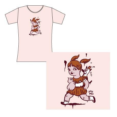 Figurine T-Shirt Femme Gary Baseman : Running Girll (L) Critter Box Vêtements - Sacs Geneve