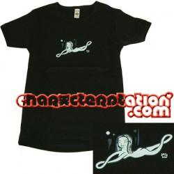 Figuren T-Shirt Femme Gary Baseman : Blue Lady (S) Critter Box Bekleidung - Säcke Genf
