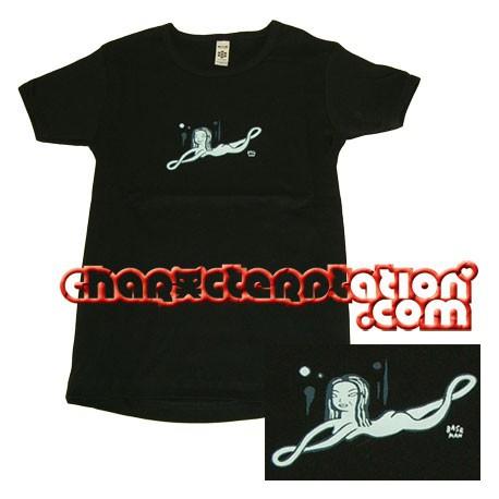 Figuren T-Shirt Femme Gary Baseman : Blue Lady (S) Critter Box Genf Shop Schweiz