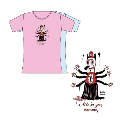 Figur T-Shirt Bleu Femme Gary Baseman : I Hide In Your Dreams (M) Critter Box Geneva Store Switzerland