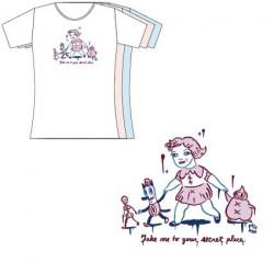 T-Shirt Rose Femme Gary Baseman : Take Me To Your Secret Place (