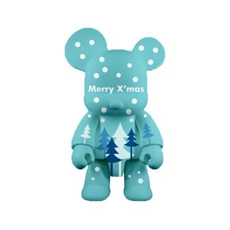 Figurine Qee Xmas Bear Bleu 20 cm par Raymond Choy Toy2R Boutique Geneve Suisse