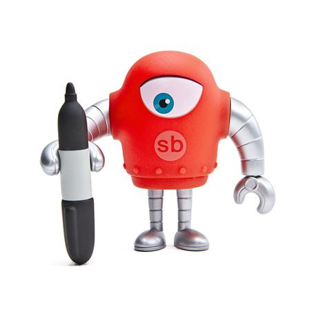 Figurine Sketchbot Sharpie Solid Boutique Geneve Suisse