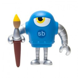 Figurine Sketchbot Cyan Solid Boutique Geneve Suisse