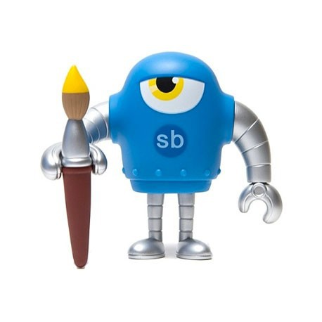 Figur Sketchbot Cyan Large Toys Geneva