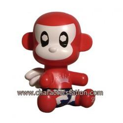 Figuren Baby Qee Budweiser Monkey Toy2R Qee Genf