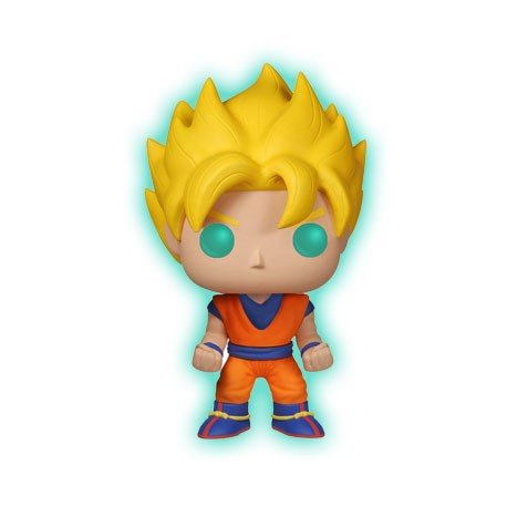 Figurine Pop Phosphorescent Dragon Ball Z Super Saiyan Goku Funko Boutique Geneve Suisse