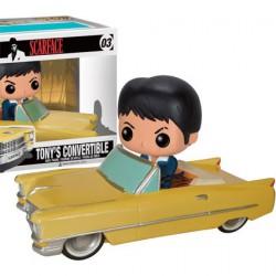 Figurine BOITE ENDOMMAGE - Pop Rides Scarface Tony in Cadillac (Rare) Funko Boutique Geneve Suisse