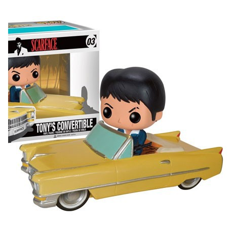 Figur DAMAGED BOX - Pop Rides Scarface Tony in Cadillac (Vaulted) Funko Geneva Store Switzerland