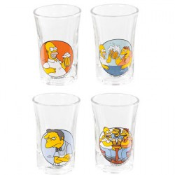 Simpsons Set of 4 Shot Glasses