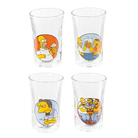 Figur Simpsons Set of 4 Shot Glasses Geneva Store Switzerland