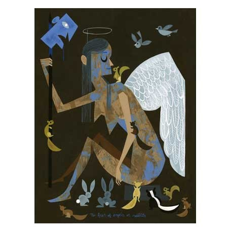 Figur Print : Amanda Visell : no fear of angels or rabbits Prints Geneva